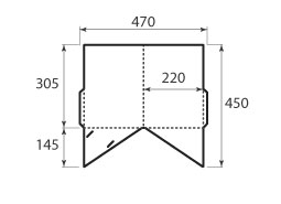 папка ФС 220x305 2 кармана