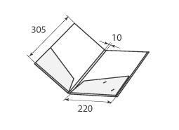 папка ФС 220x305x10 2 кармана