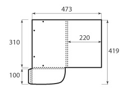 Папка ФС 220x310x10 с резинками