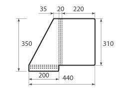 Папка ФС 220x310x20 угловая