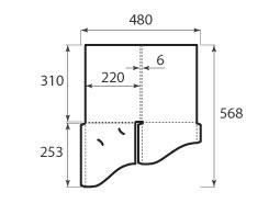 Папка ФС 220x310x6 с 2 карманами