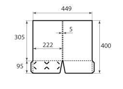 Папка FS 222x305x5 2 кармана