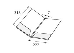 Папка FS 222x318x7 2 кармана