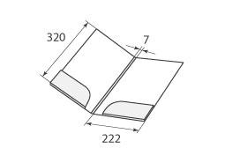 Папка FS 222x320x7 2 кармана