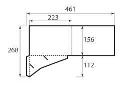 Папка FS 223x156 для А5 и визитки 85x55