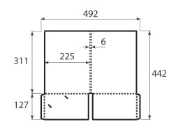 Папка ФС 225x311x6 с 2 карманами