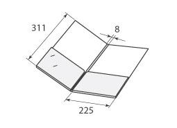 Папка ФС 225x311x8 с 2 карманами