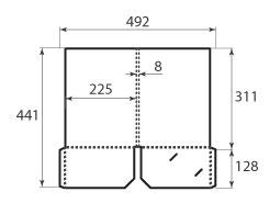 Папка ФC 225x311x8 c 2 карманами