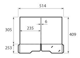Папка ФС 235x305x6 с 2 карманами