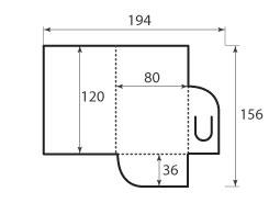 Папка ФС 80x120 ключница