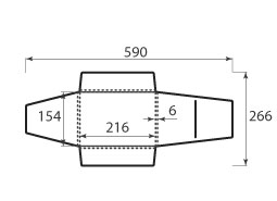 Папка ФВ 216x154x6 конвертаподобная