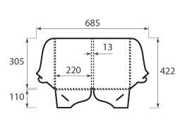 Папка ФВ 220x305x13 2 кармана