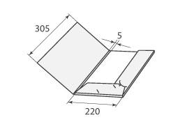 Папка ФВ 220x305x5