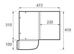 Папка ФВ 220x310x10 с резинками