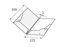 Папка ФВ 225x309x5 2 кармана