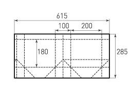 Горизонтальный пакет G200x180x100