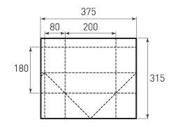 Горизонтальный пакет G200x180x160