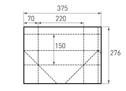 Горизонтальный пакет G220x150x140