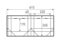 Горизонтальный пакет G220x170x80