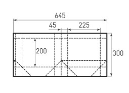 Горизонтальный пакет G225x200x90