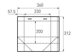 Горизонтальный пакет G230x200x115