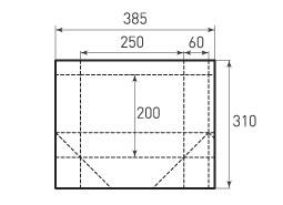 Горизонтальный пакет G250x200x120