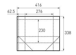 Горизонтальный пакет G276x230x125