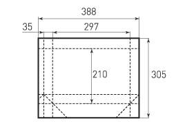 Горизонтальный пакет G297x210x70