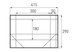 Горизонтальный пакет G300x180x100