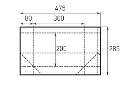 Горизонтальный пакет G300x200x160