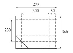 Горизонтальный пакет G300x230x120