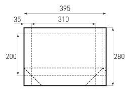 Горизонтальный пакет G310x200x70