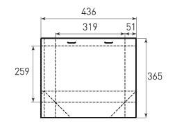 Горизонтальный пакет G319x259x102