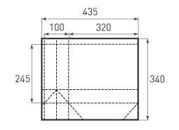 Горизонтальный пакет G320x245x100
