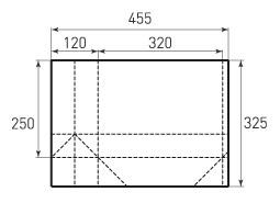 Горизонтальный пакет G320x250x120