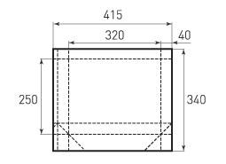 Горизонтальный пакет G320x250x80