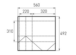 Горизонтальный пакет G320x310x220