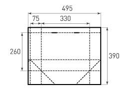 Горизонтальный пакет G330x260x150