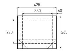 Горизонтальный пакет G330x270x80