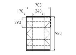 Горизонтальный пакет G340x290x340