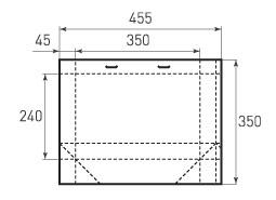 Горизонтальный пакет G350x240x90
