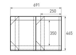 Горизонтальный пакет G350x250x100