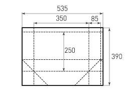 Горизонтальный пакет G350x250x170