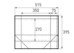 Горизонтальный пакет G350x270x150