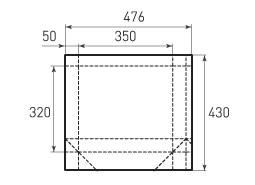 Горизонтальный пакет G350x320x100