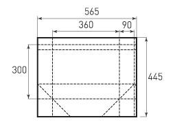 Горизонтальный пакет G360x300x180