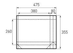 Горизонтальный бумажный пакет G380x260x80