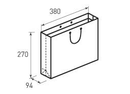 Горизонтальный бумажный пакет G380x270x94