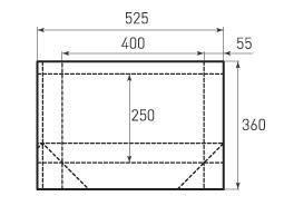 Горизонтальный бумажный пакет G400x250x110