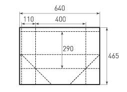 Горизонтальный бумажный пакет G400x290x220